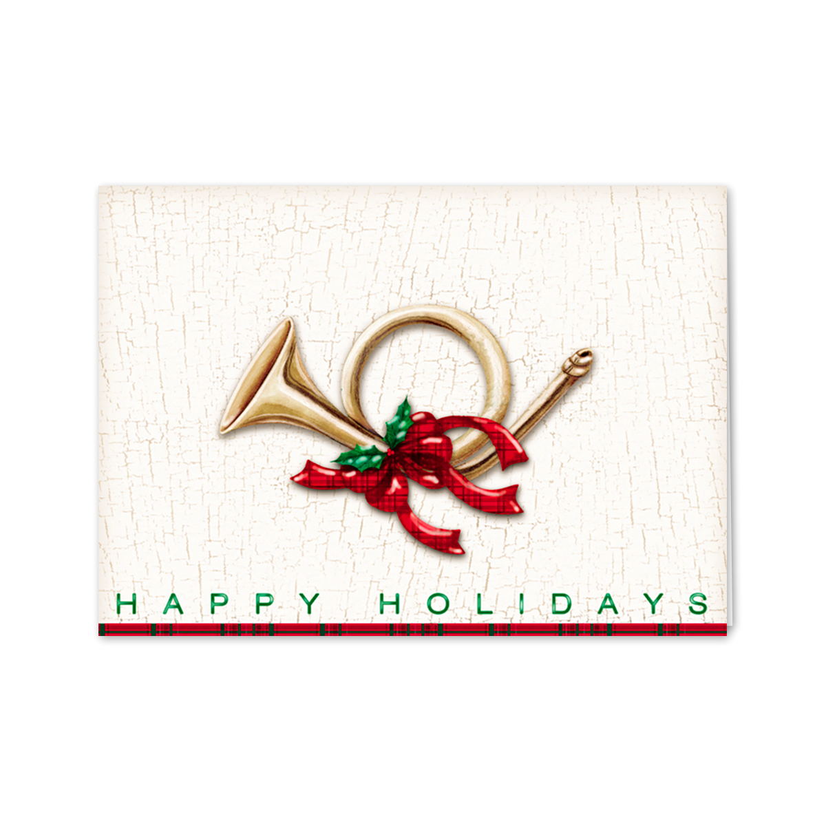 Holiday French Horn Greeting Card