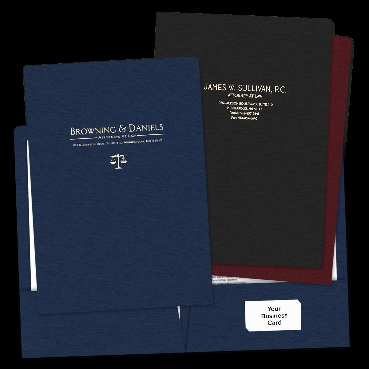 Legal Size Folders Foil Stamped Mines Press