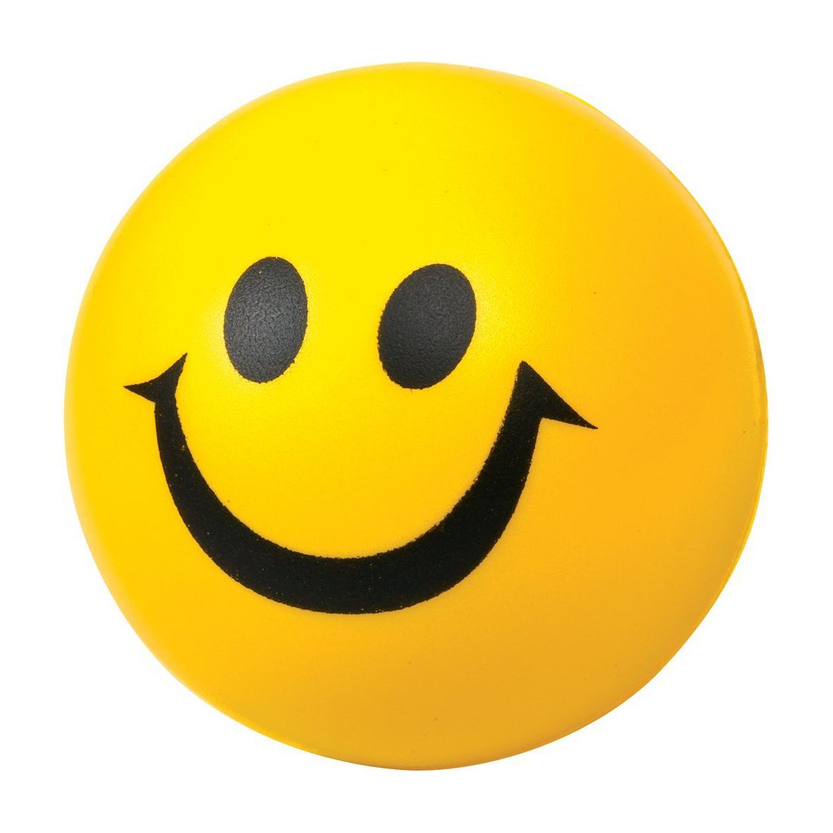 smiley face stress ball mines press
