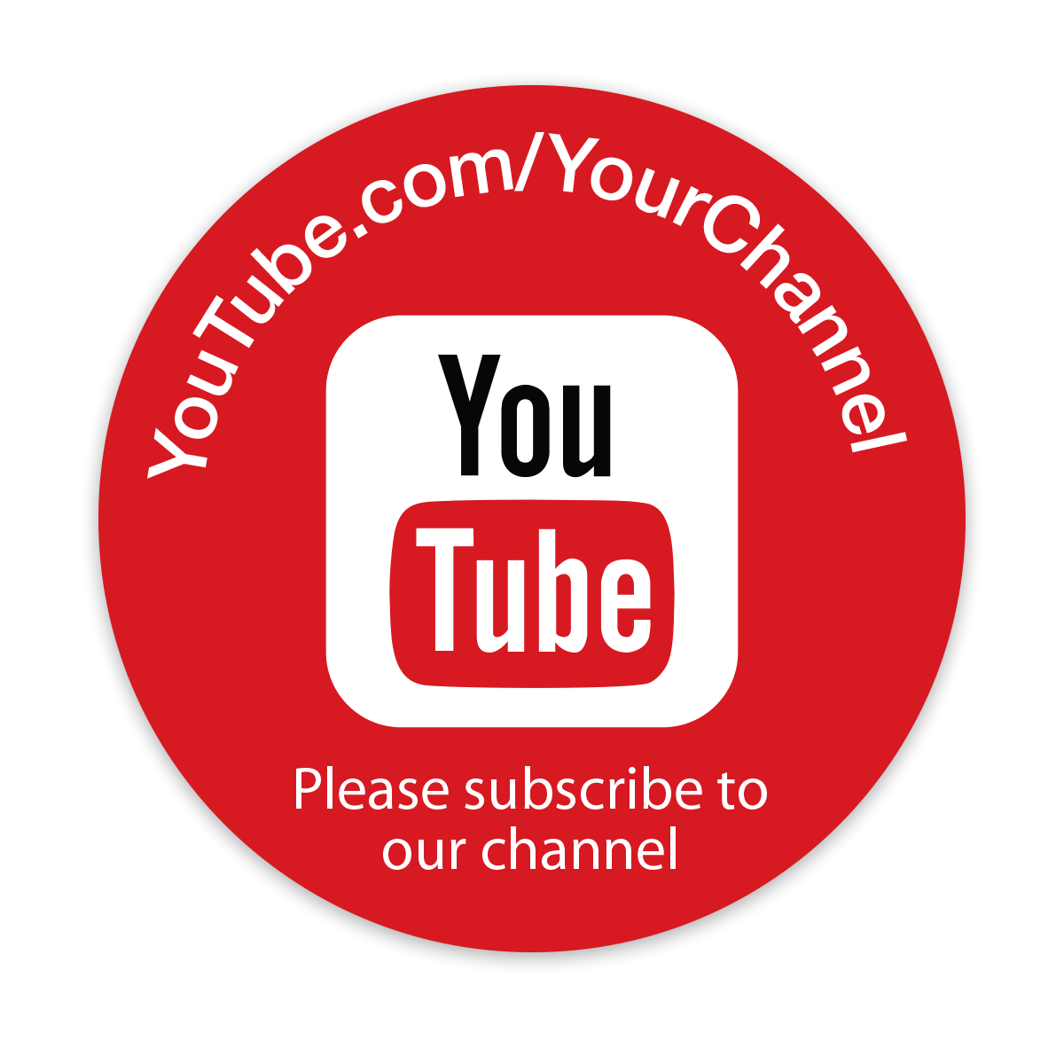 Custom Youtube Channel Design: Personalized YouTube Stickers