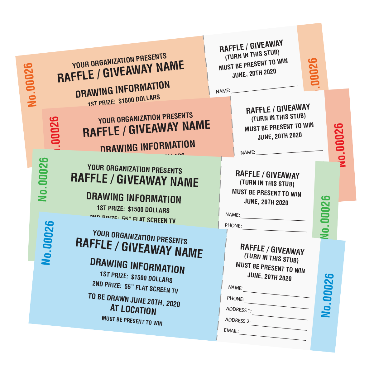 raffle ticket printing custom raffle tickets mines press picture of generic raffle tickets