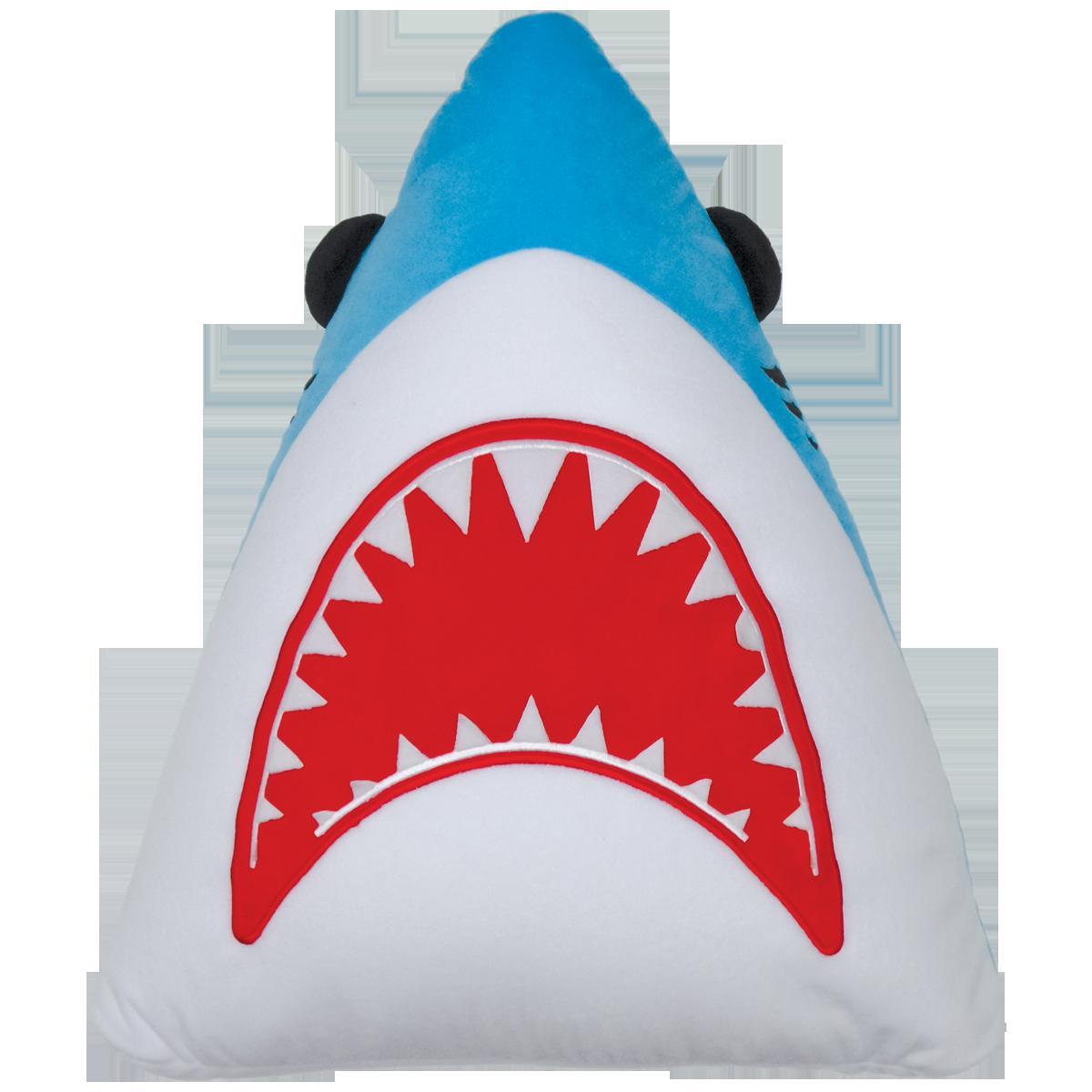 Shark Pillow shark fleece embroidered microbead pillow | iscream