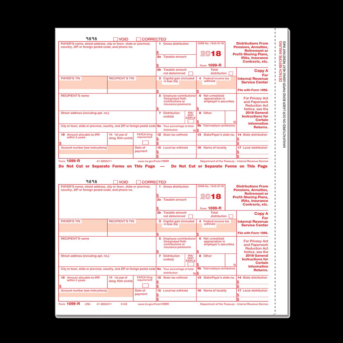 Form 1099 R Federal Copy A Mines Press