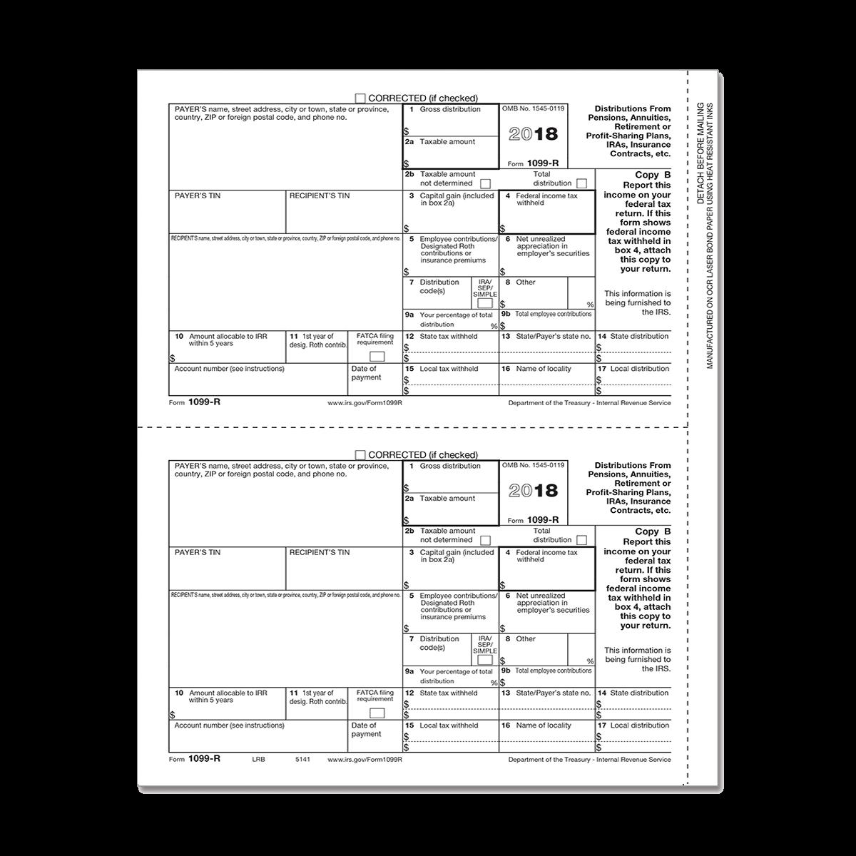 Form 1099 R Recipient Copy B Mines Press