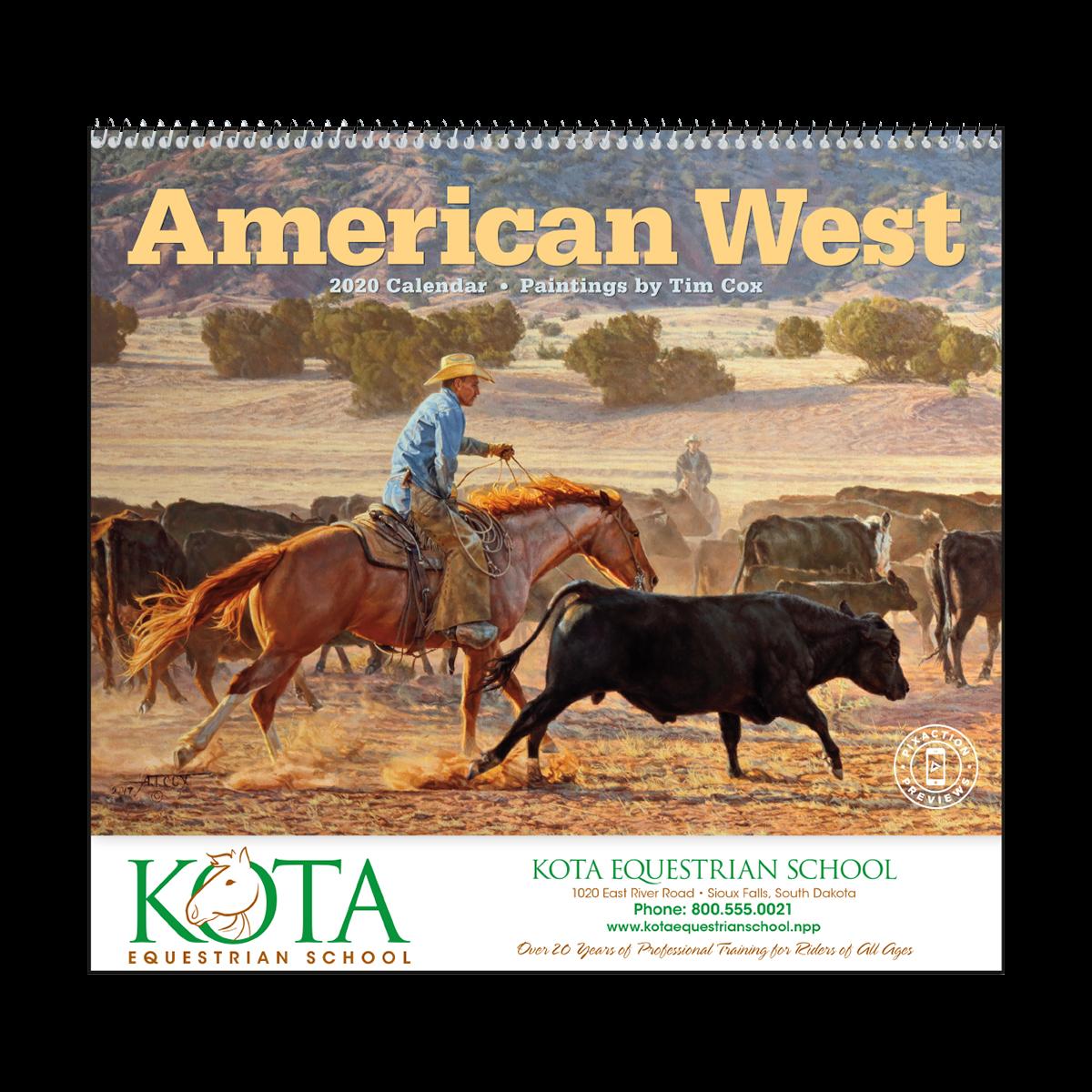 American West Wall Calendar