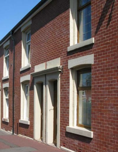 One of hundreds of houses treated with closed cell cavity wall insulation for Blackburn MBC.