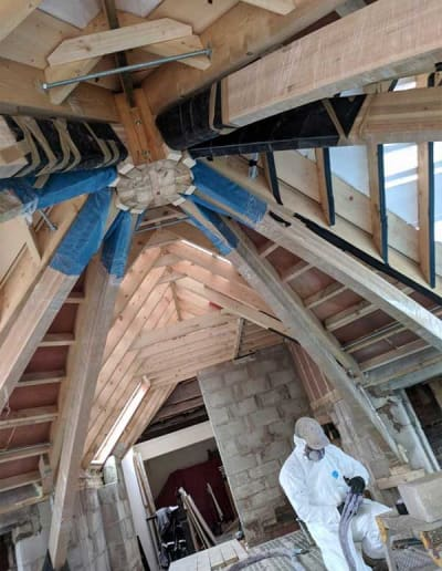 Unconventional roof spaces can be insulated in a fraction of the time !!