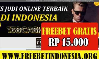 138Cash Freebet Gratis Rp 15.000 Tanpa Deposit