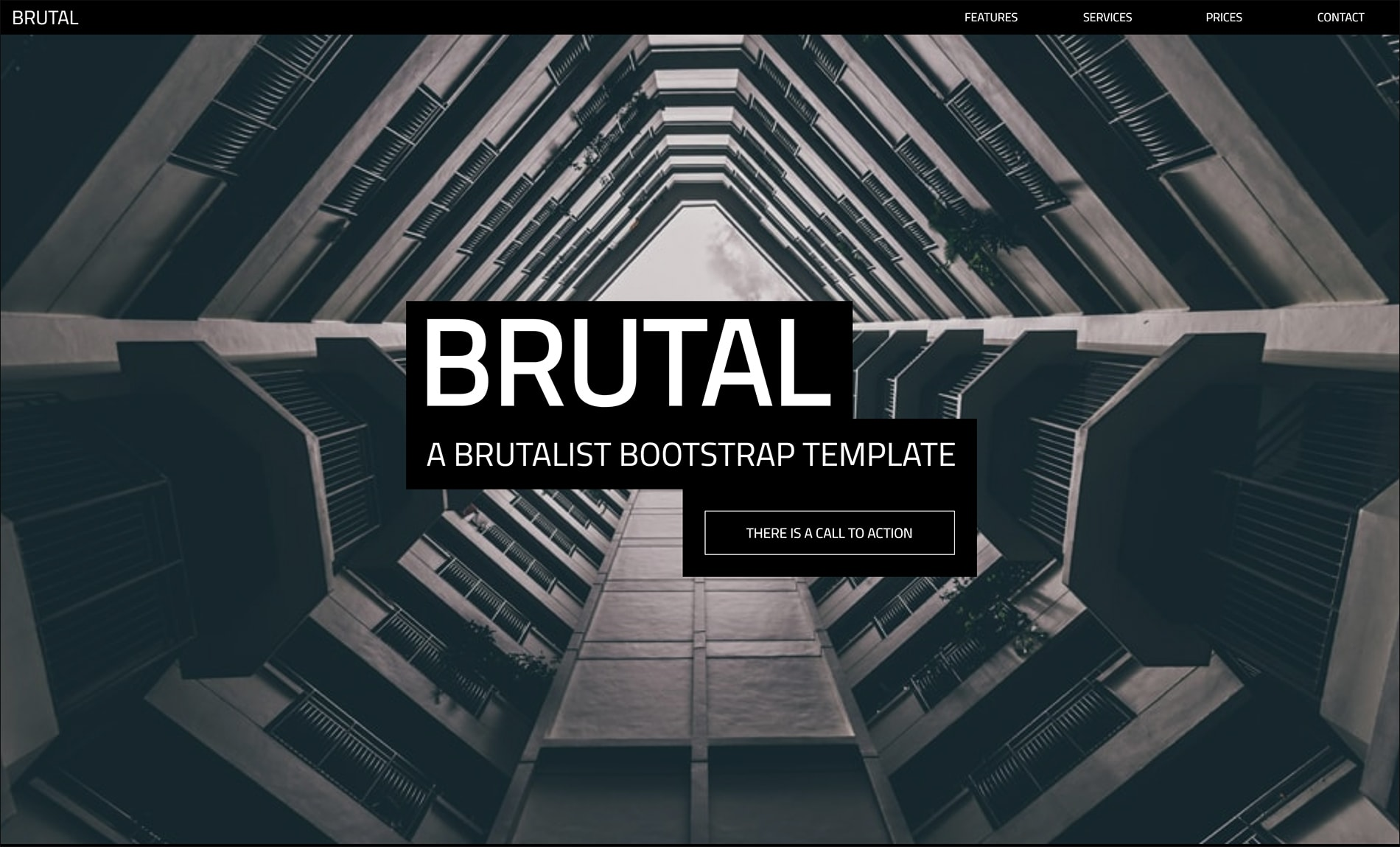 Brutal | A Brutalist HTML5 Template