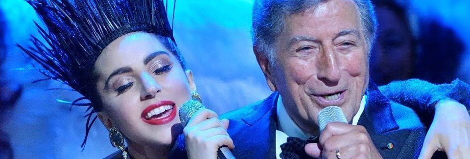Lady Gaga and Tony Bennett wearing Cindy Vogels