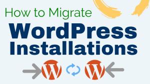 migrate wordpress installation