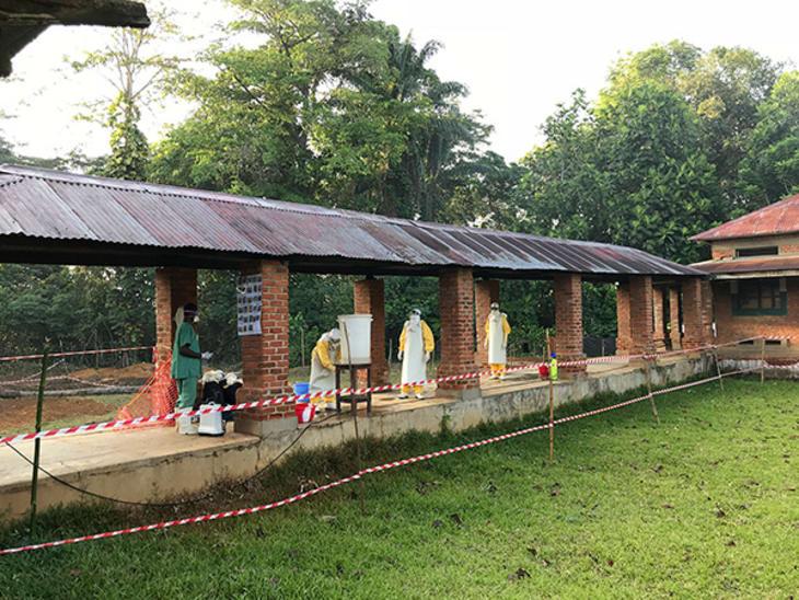 Ebolasenter i Bikoro, DR Kongo, mai 2018