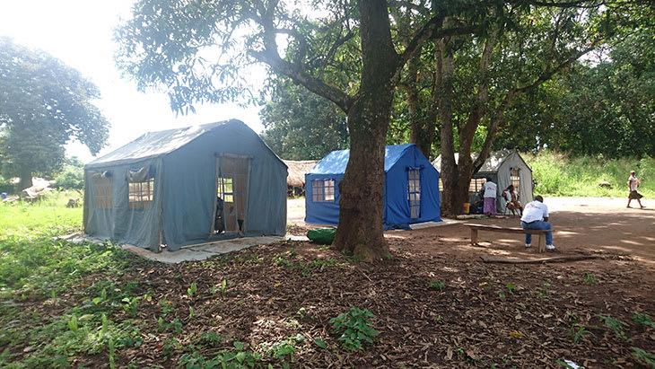 Telt utgjør mobil klinikk i Sør-Sudan.
