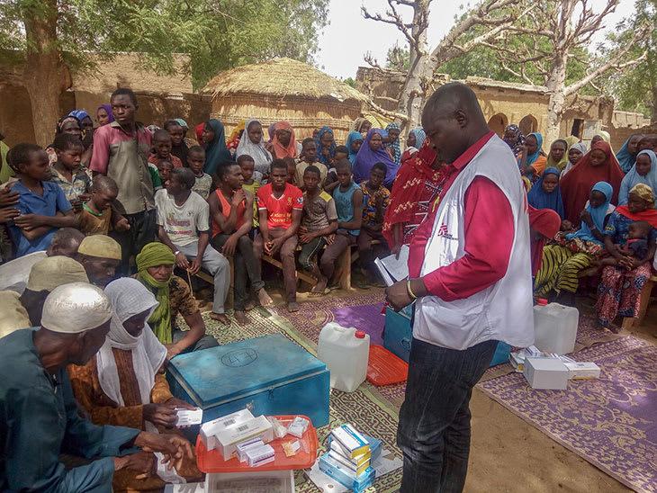 Opplæring og oppfølging av helsearbeidere i lokalsamfunn, Nigeria.