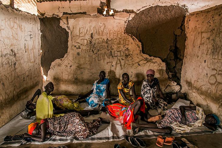 Klinikk i ruiner i Kier, Sør-Sudan. Desember 2018.