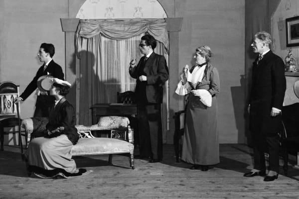Zoe Caldwell and the Union Theatre Repertory Company ensemble in Pygmalion (1953)