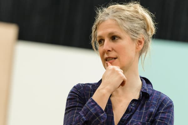 Sarah Goodes in rehearsal on 2018's A Doll's House, Part 2. Photo: Deryk McAlpin