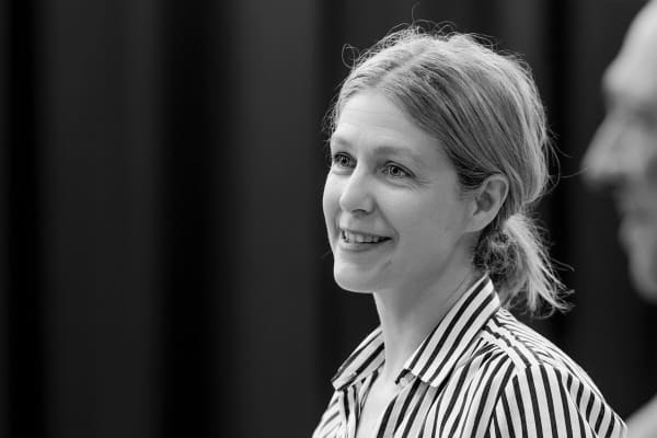 Sarah Goodes, rehearsing The Children. Photo: Deryk McAlpin
