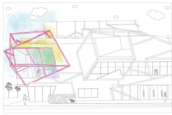 Artwork for Southbank Theatre colouring-in