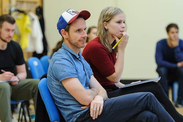 Director Dean Bryant in rehearsals