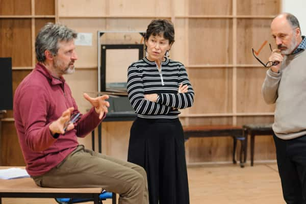 Artwork for The Architect in rehearsal