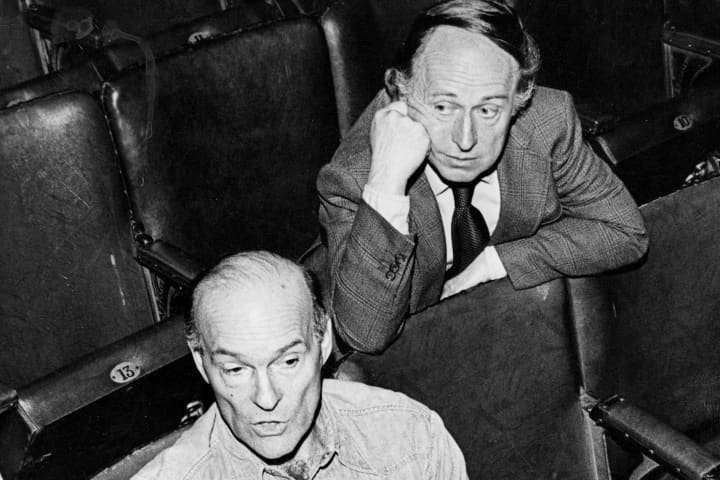 John Sumner (left) and Ray Lawler. Photo: MTC archive