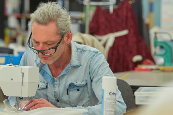 John Van Gastel at work on Shakespeare in Love. Photo: Tim Grey