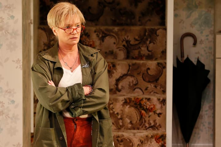 Jane Turner as Sylvia in Home, I'm darling. Photo: Jeff Busby