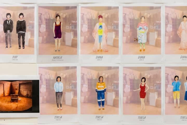Kat Chan's initial costume designs. Photo: Charlie Kinross