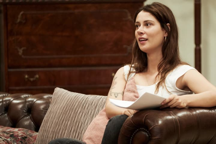Grace Cummings in rehearsal for Berlin. Photo: Charlie Kinross
