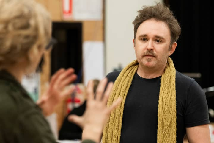 Robin Goldsworthy in rehearsal for Cyrano. Phot: Charlie Kinross