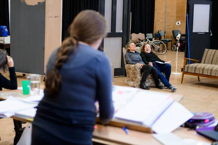 Di and Viv and Rose in rehearsal