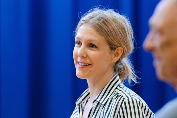 Sarah Goodes rehearsing The Children. Photo: Deryk McAlpin