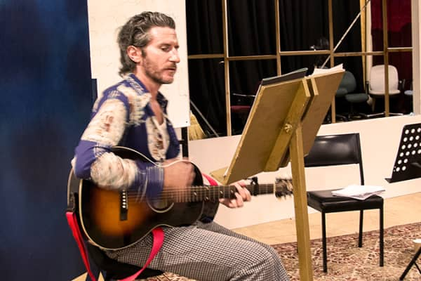Tim Rogers in rehearsal