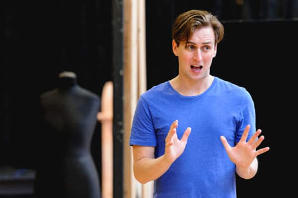 Ash Flanders in rehearsal for Buyer and Cellar