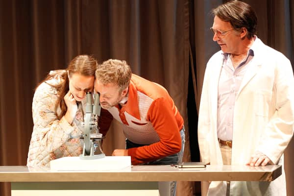 Belinda McClory, Brett Cousins and Greg Stone in 'The Waiting Room'