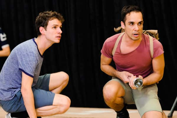 Nicholas Denton and Guy Simon in rehearsal