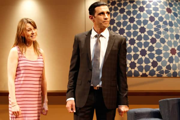 Kat Stewart and Hazem Shammas in Disgraced