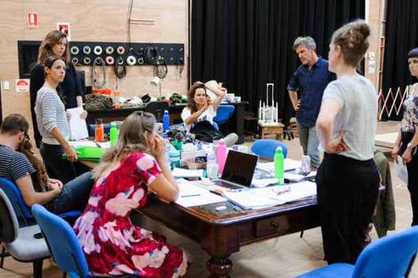 The Three Little Words team in rehearsals