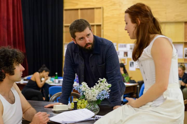 Miss Julie in rehearsal