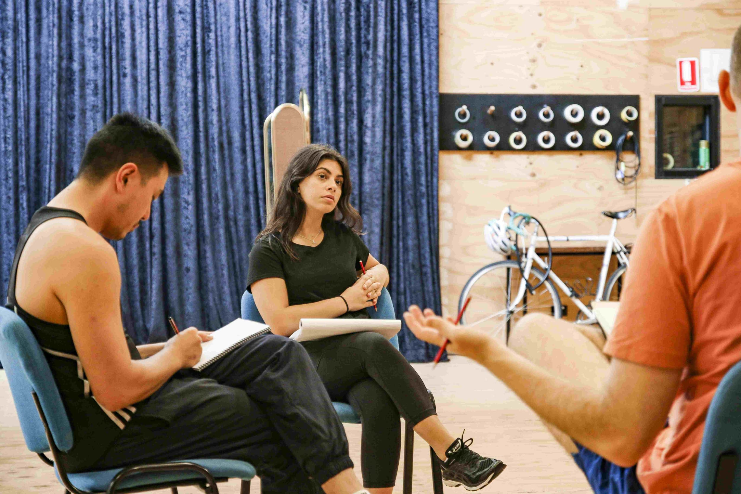 Izabella Yena in rehearsal
