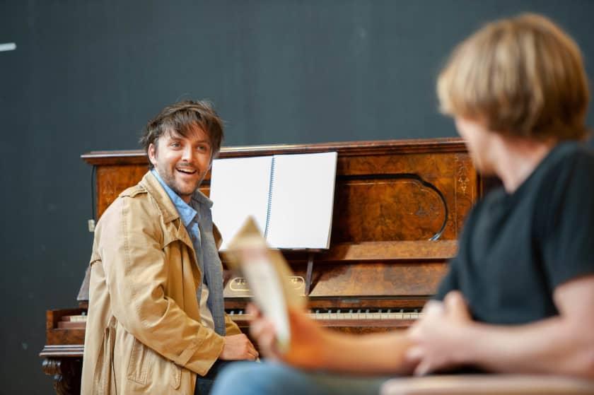 Gabriel Fancourt in rehearsal