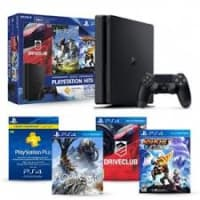 PS4 500GB Slim Console with 3 Games and 3 Month PS Plus Membership