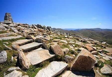 The cairn at the top