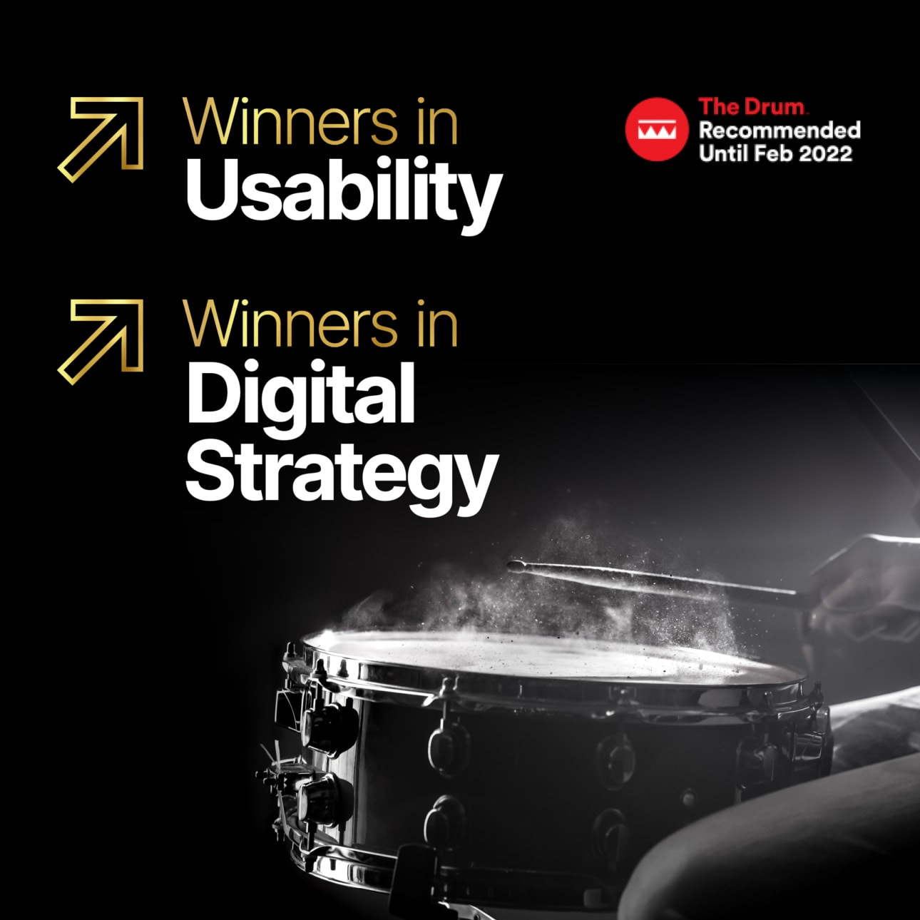 Drum - Usability and Digital Strategy Winners - Square