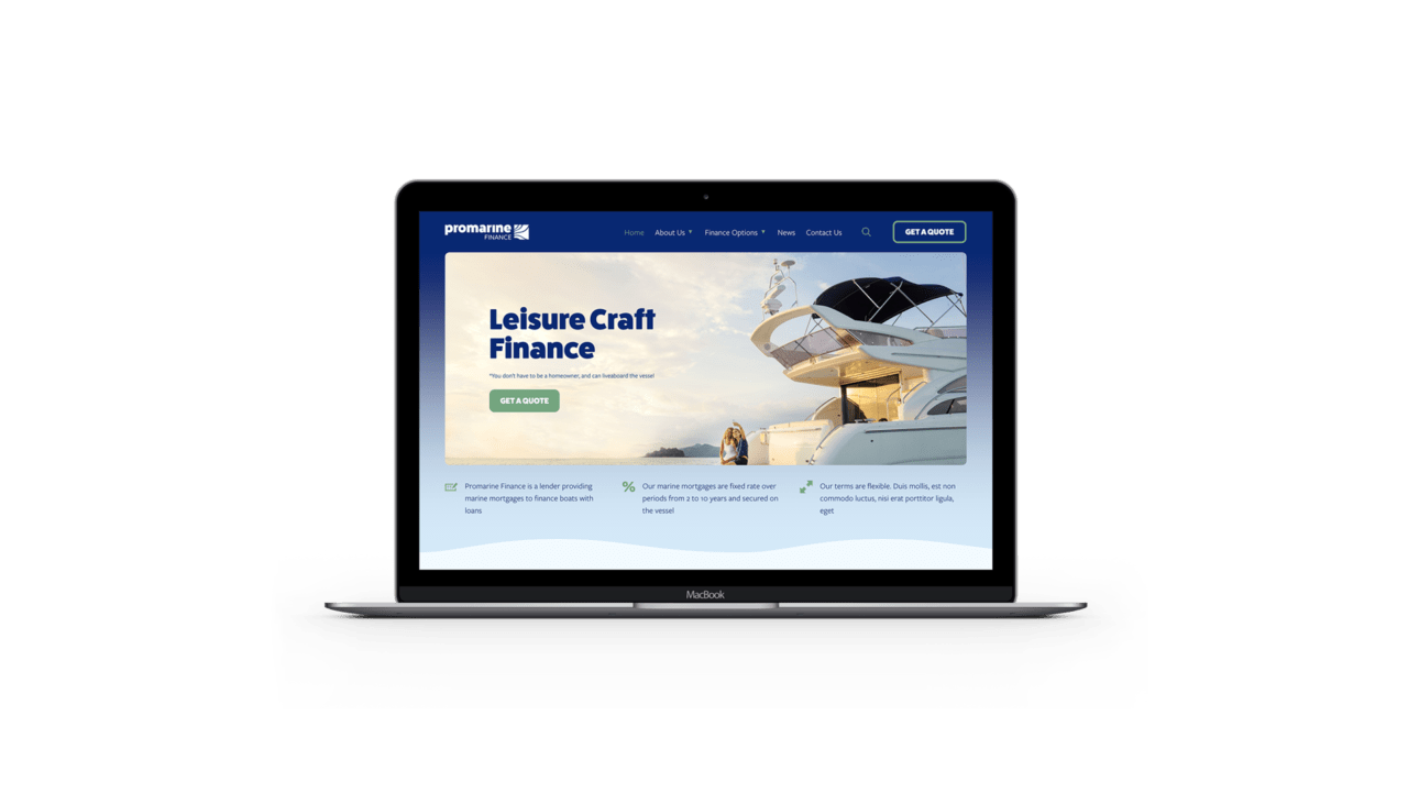 Promarine Finance Image website