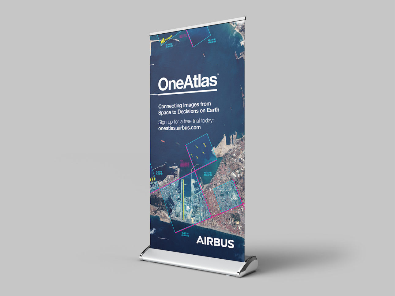 WORK Airbus One Atlas Mock Up Pull Up Banner