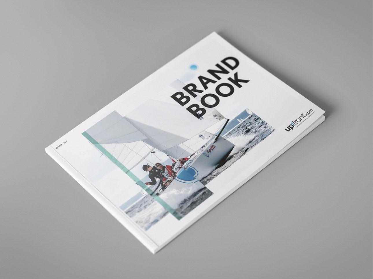 WORK Upffront Mock Up Brand Book Cover