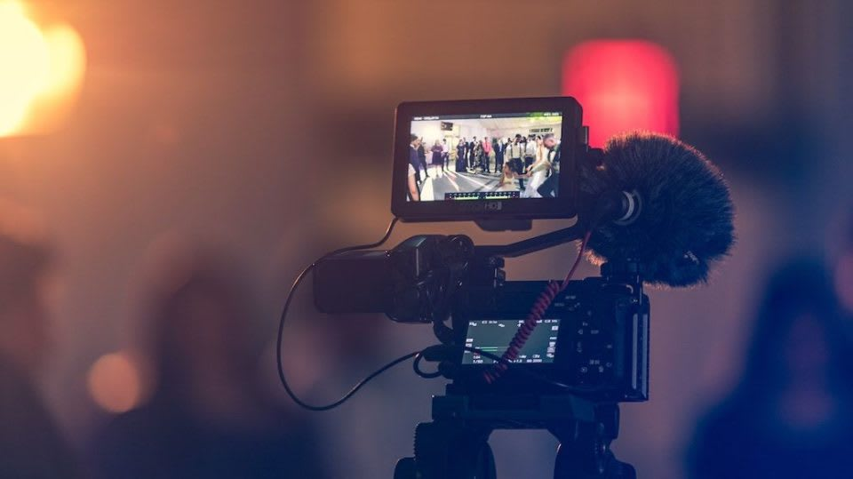 Filming footage