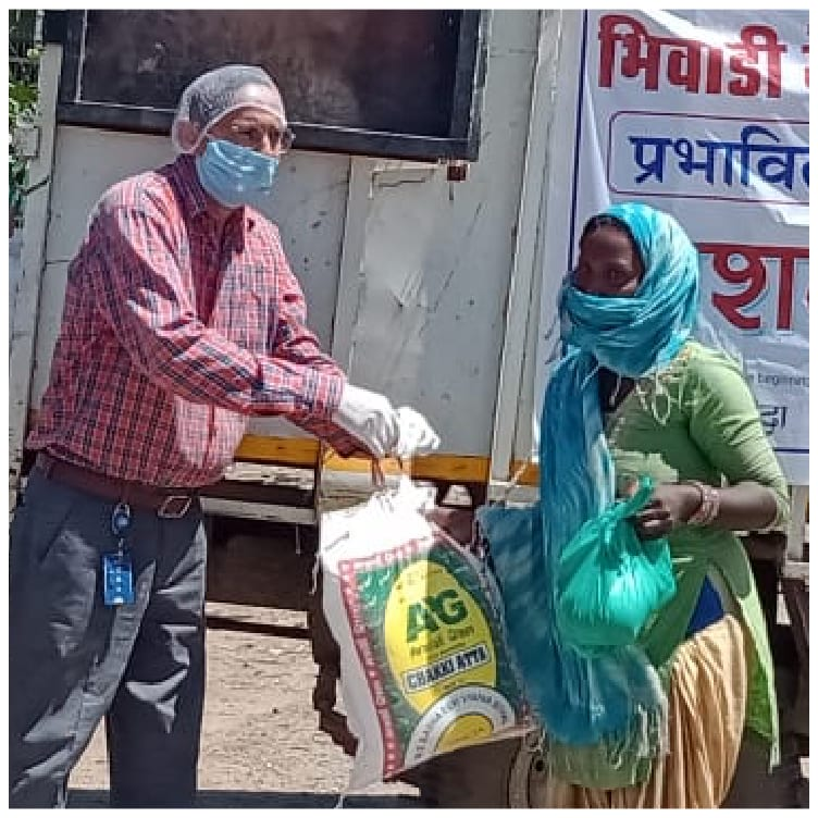 Gillette bhiwadi plant in india, we provided food packages to support more than 800 families